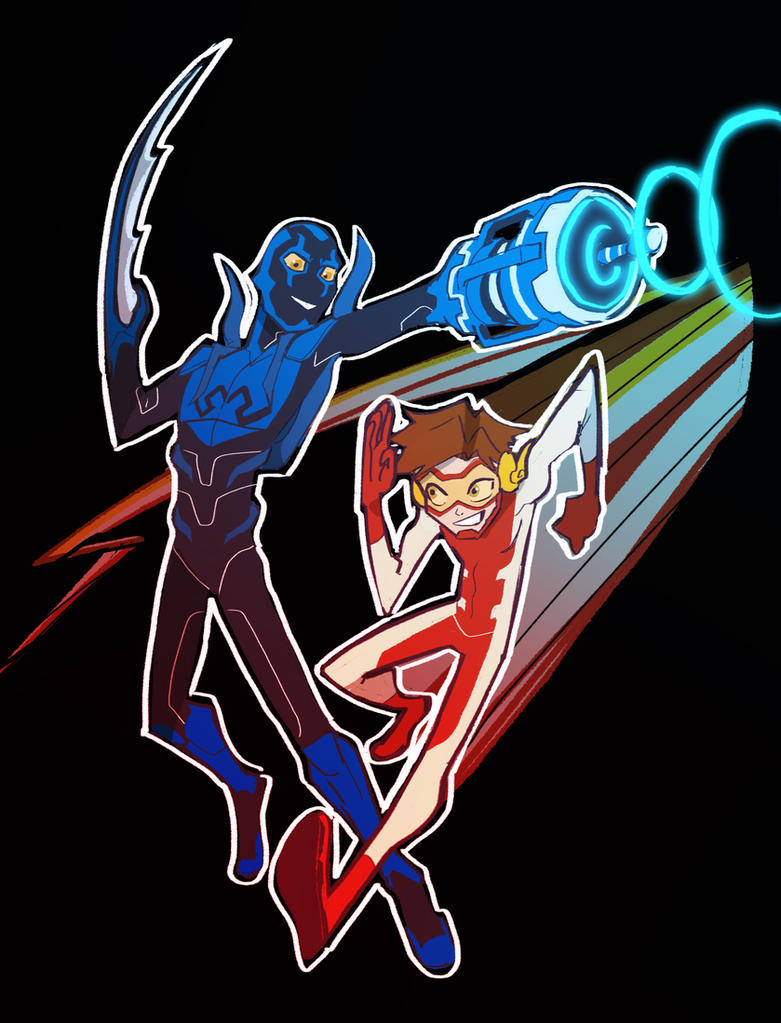 YJ: BlueBeetle and Impulse by Dream-Piper