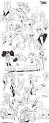 Sketchies: Dragons, Fairies, Critters, oh my! by Dream-Piper