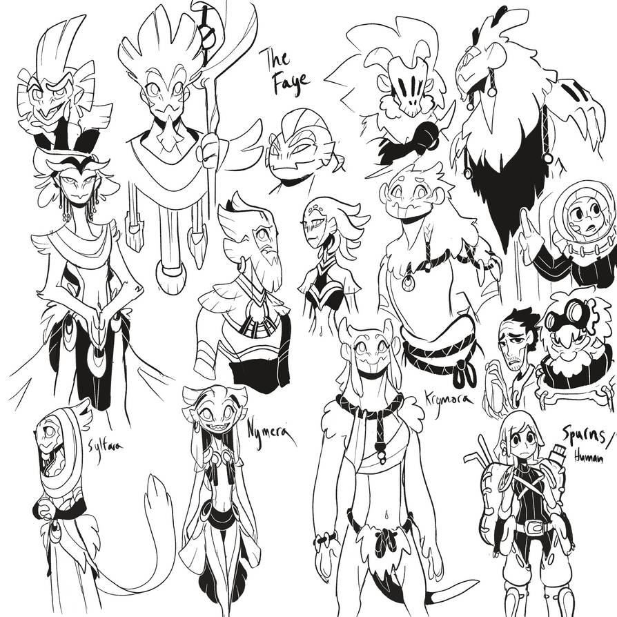 Sketchies: They are called the Faye by Dream-Piper