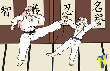 Makoto and Chiyoko Sparring