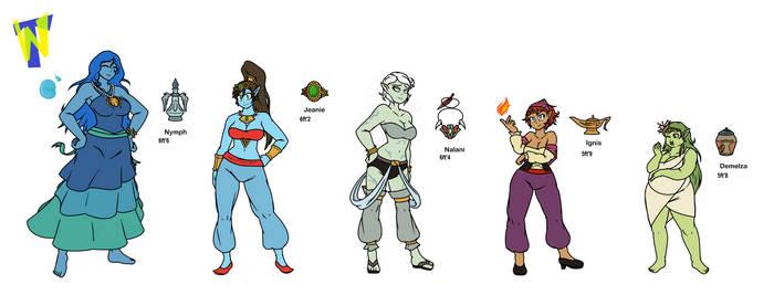 Jeannie Djinn Gang Multiple Characters