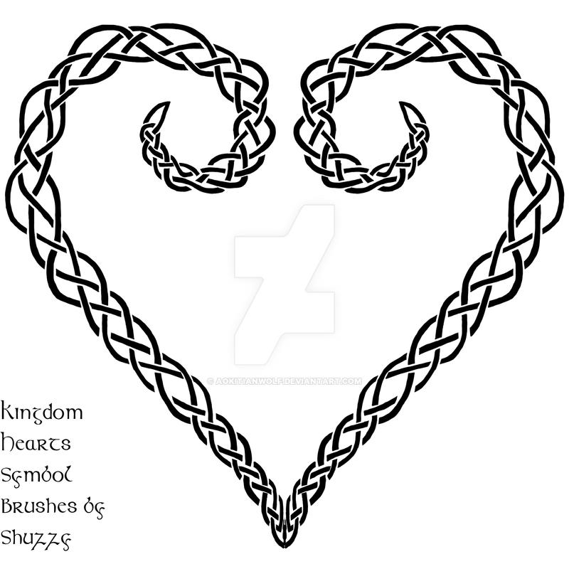 Celtic Knot Heart Symbol Kingdom Hearts By Aokitianwolf On Deviantart