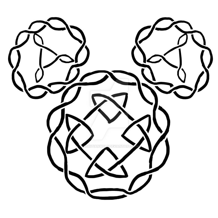 Celtic Knot Mickey Symbol By Aokitianwolf On Deviantart