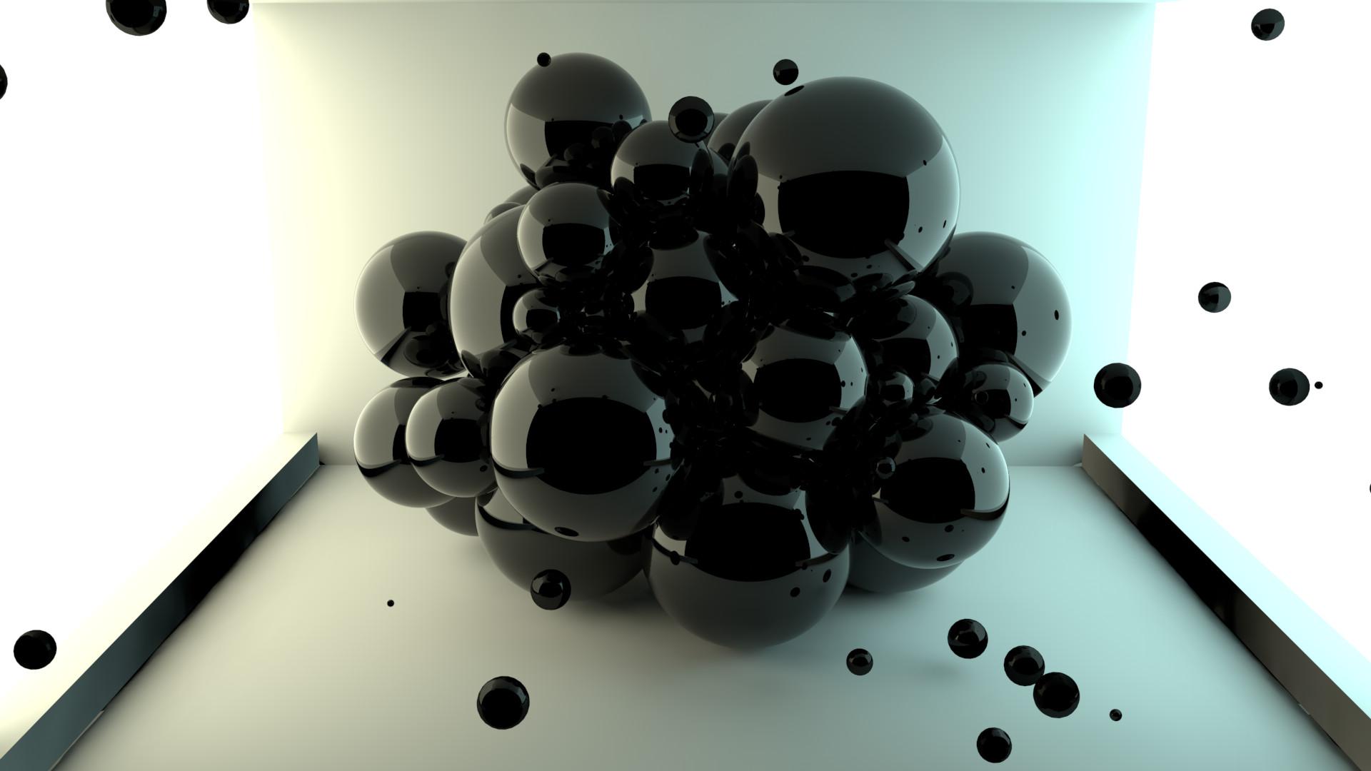 Cinema 4D -- Abstract Spheres by SMOKEYoriginalHD