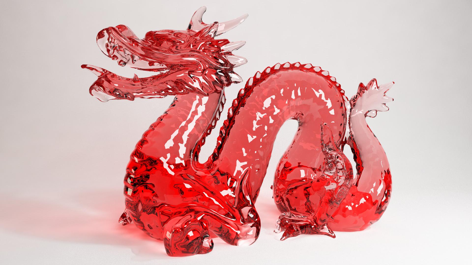 Cinema 4D -- Vray Glass Dragon by SMOKEYoriginalHD