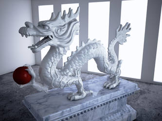 Cinema 4D Vray -- Dragon by SMOKEYoriginalHD