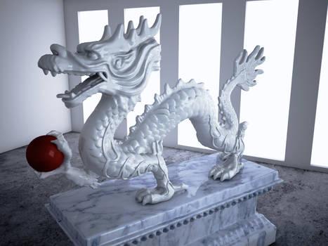 Cinema 4D Vray -- Dragon