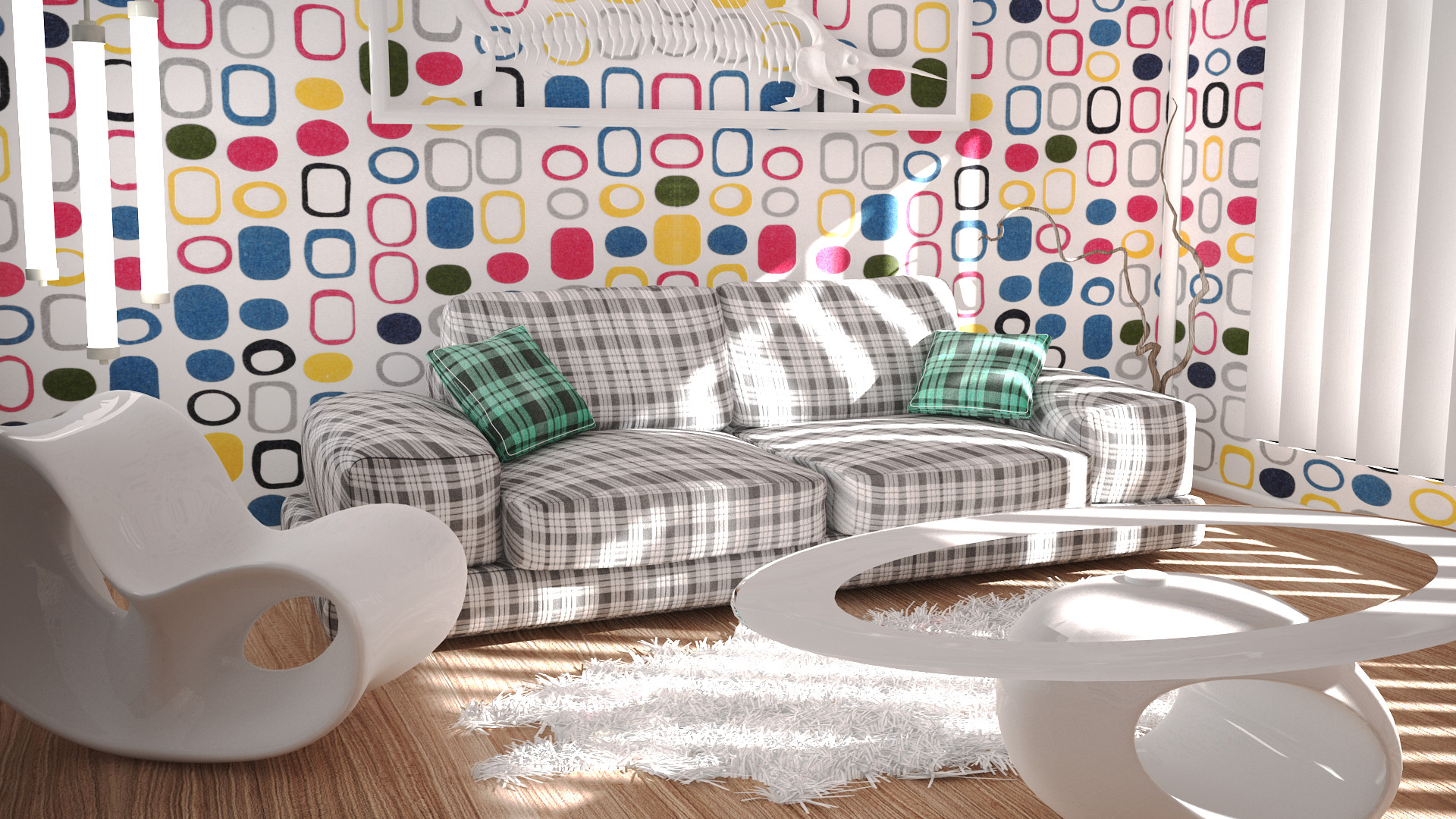 Cinema 4D -- White Room final version by SMOKEYoriginalHD