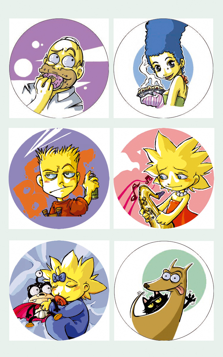 Simpson family chapas by lpspalmer