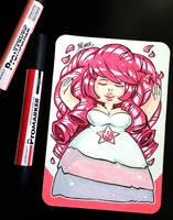 Steven Universe Rose Quartz Postcard by lpspalmer