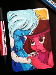 Steven Universe Ruby and Sapphire Postcard