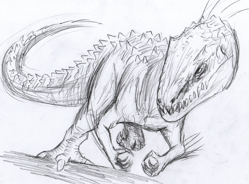 Indominus Rex Sketch By Polandkaiju On Deviantart
