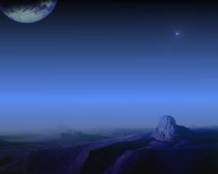 Dark Land Planet by cherouny
