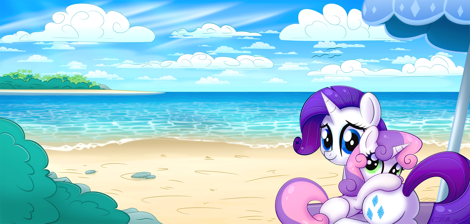 Sisters at the Beach by CTB-36