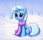 Trixie does not like the cold.
