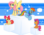 Ponies on Cubes