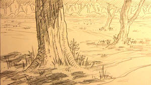 Forest Background For Manga