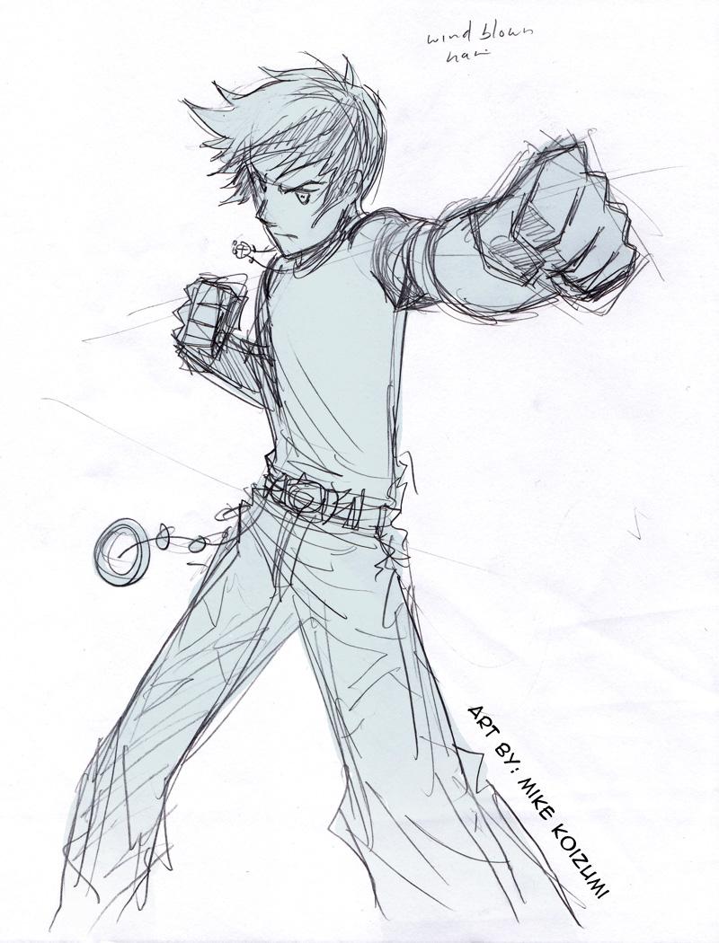Manga Fight Punch Sketch By Mikekoizumi