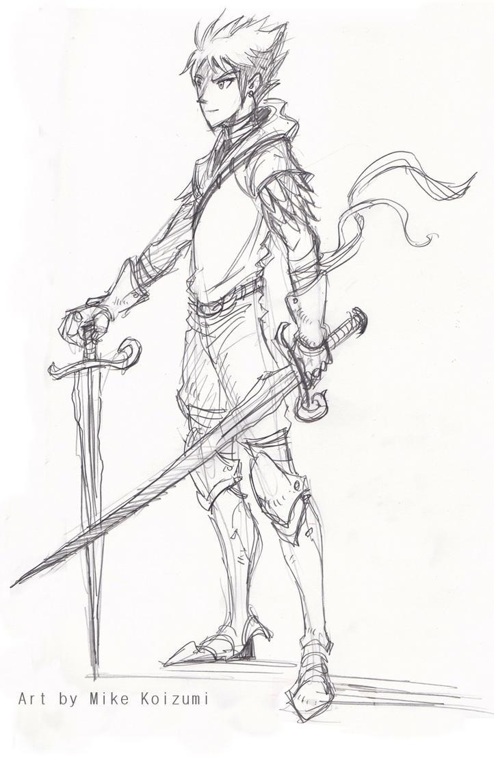 Dragonscale Warrior Sketch By MikeKoizumi On DeviantArt
