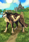Wolf Link in Hyrule Field