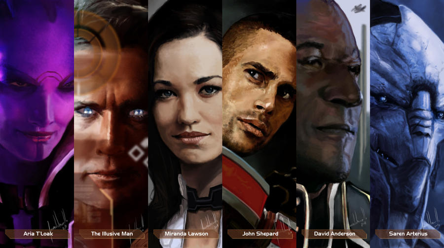 Mass Effect Characters #1 by Facuam