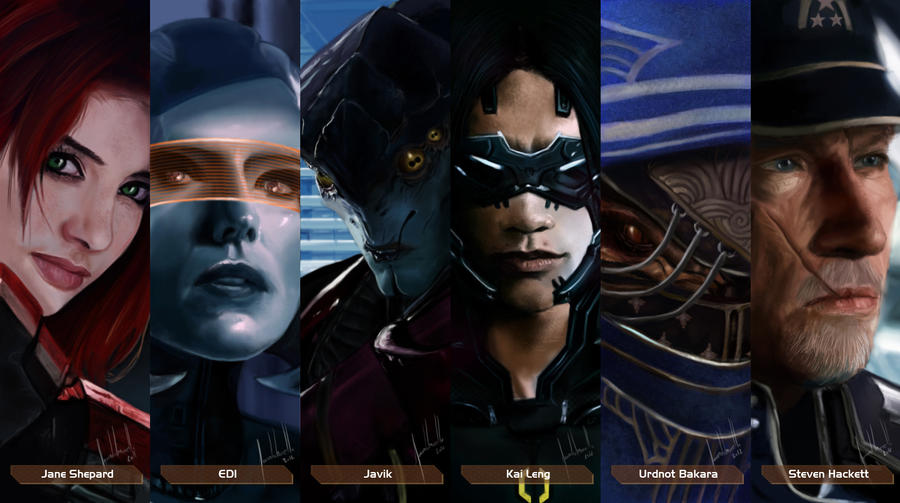 Mass Effect Characters #5 by Facuam