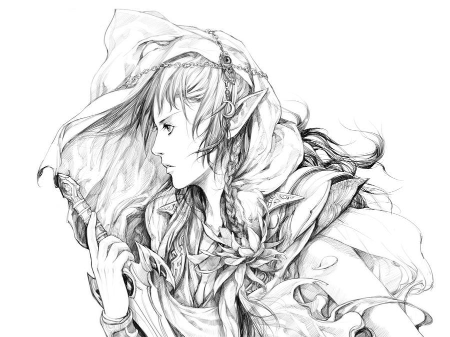 elf warrior by zhoupeng