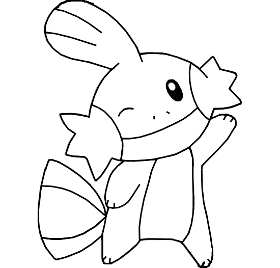 mudkip evolution coloring pages - photo#2
