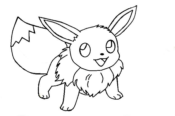 Eevee template by shadowxmephiles on deviantart for Pokemon eevee coloring pages