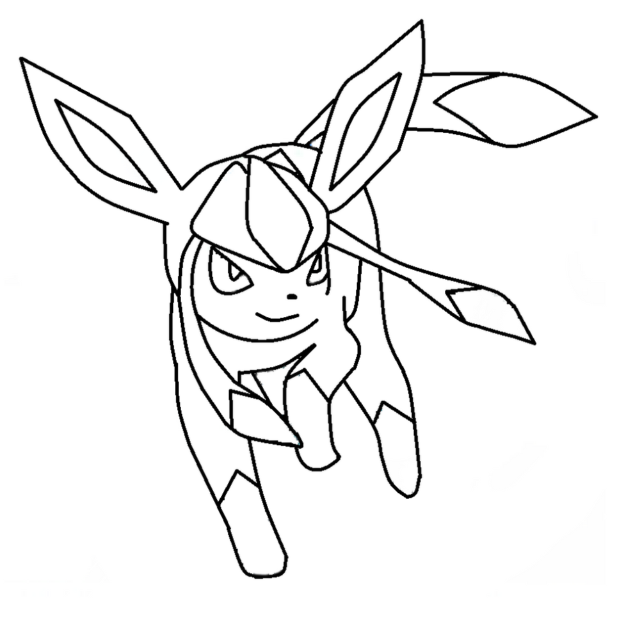 eevee evolutions coloring pages leafeon - photo#21