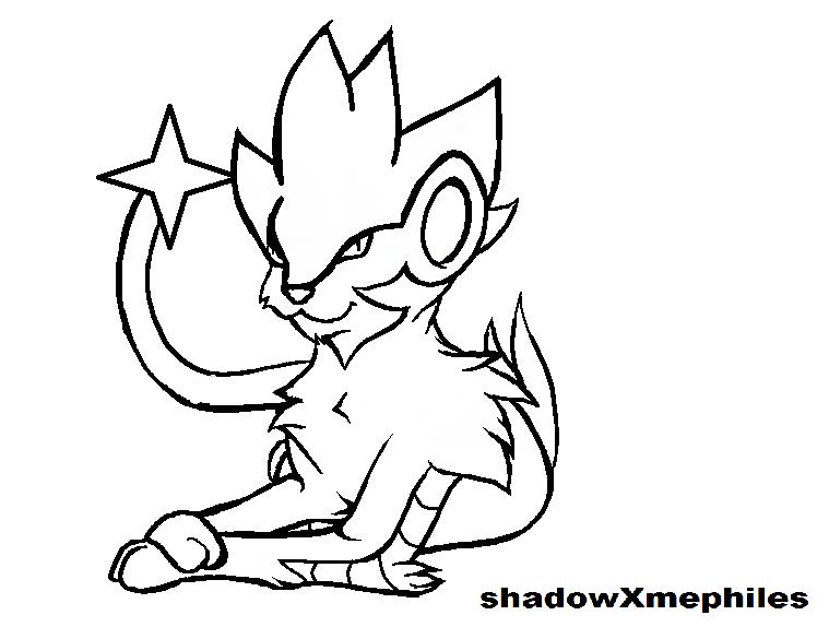 pokemon coloring pages shinx sprite - photo#14