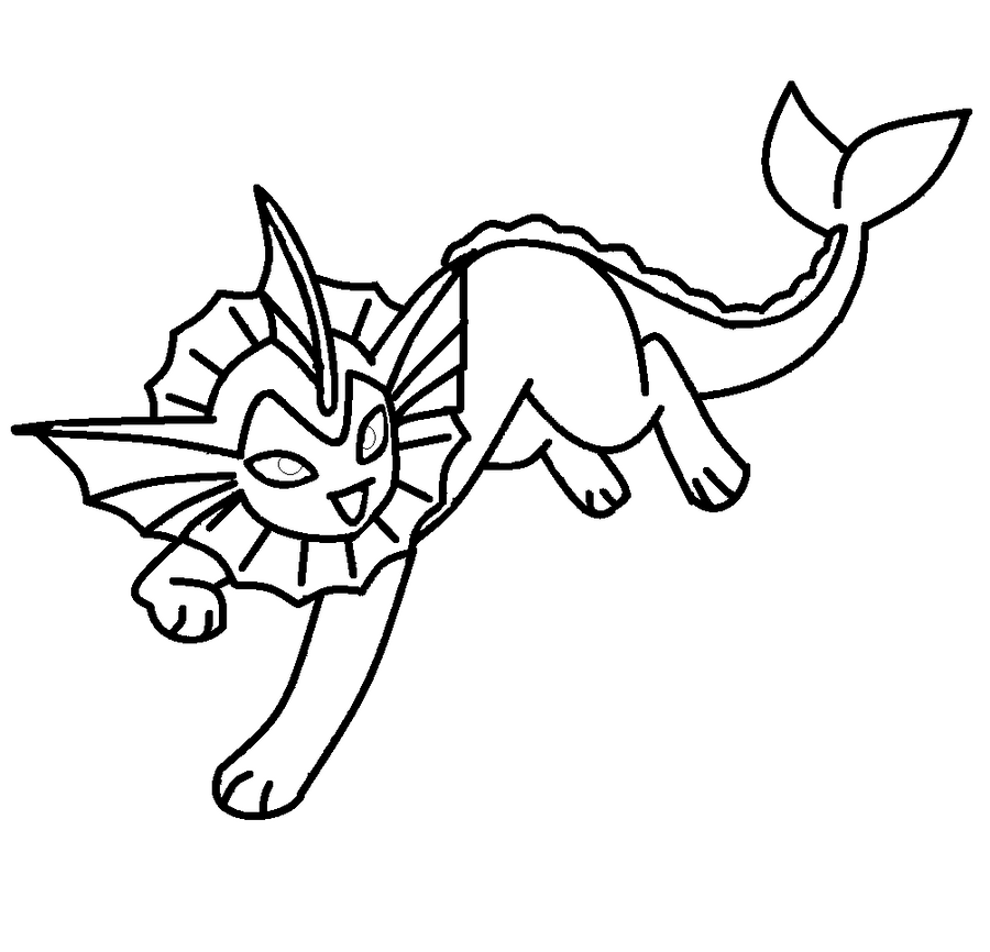 Pokemon Coloring Vaporeon Images Pokemon Images Vaporeon Coloring Pages
