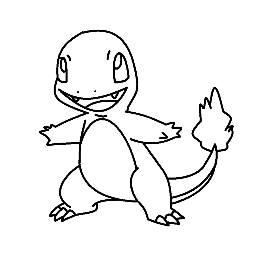 Charmander Template By Shadowxmephiles On Deviantart Charmander Coloring Pages