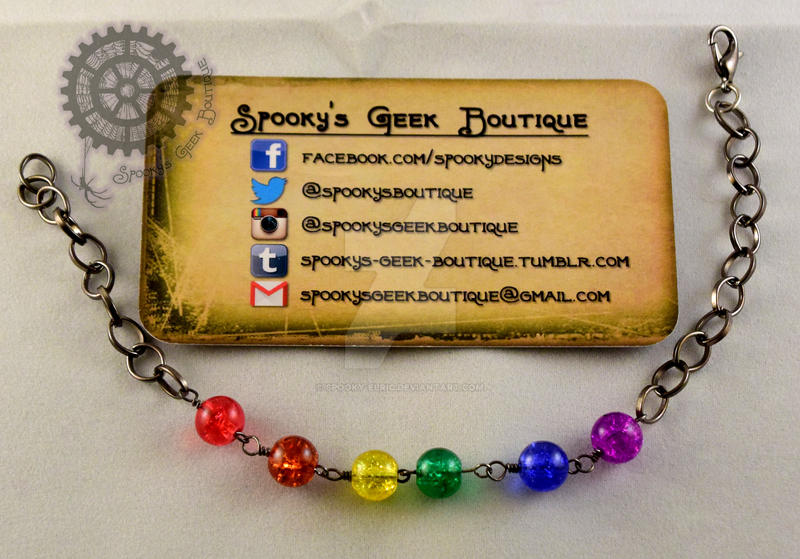 Gay Pride Bracelet by Spooky-Elric