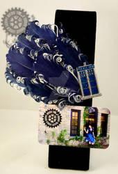 TARDIS Feathered Fascinator