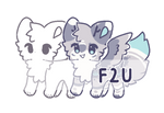 f2u   customizable chibi lineart V2