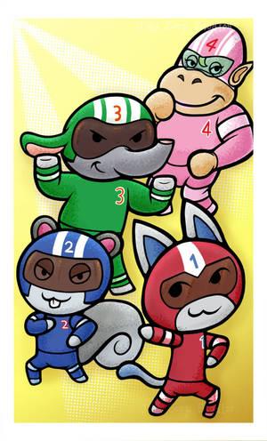 Animal Crossing Superhero's by JellySoupStudios