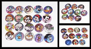90's Cartoon Button Set