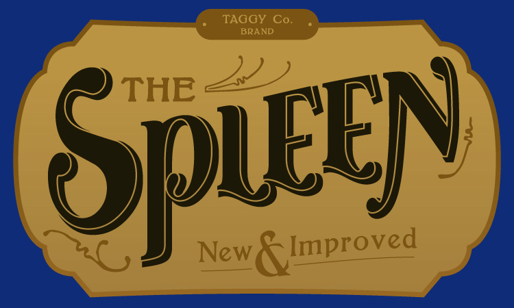 """The Spleen"" label design by Pencil-Dragonslayer"