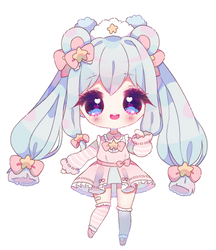 Selene [simple chibi commission] by antay6oo9