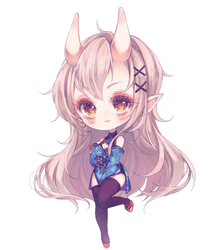 yuki [Detailed chibi commission] by antay6oo9
