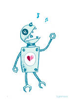 Happy Singing Robot by azzza