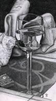 Wine glass by azzza