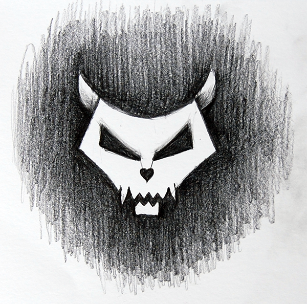 Stylized Cat Skull by azzza