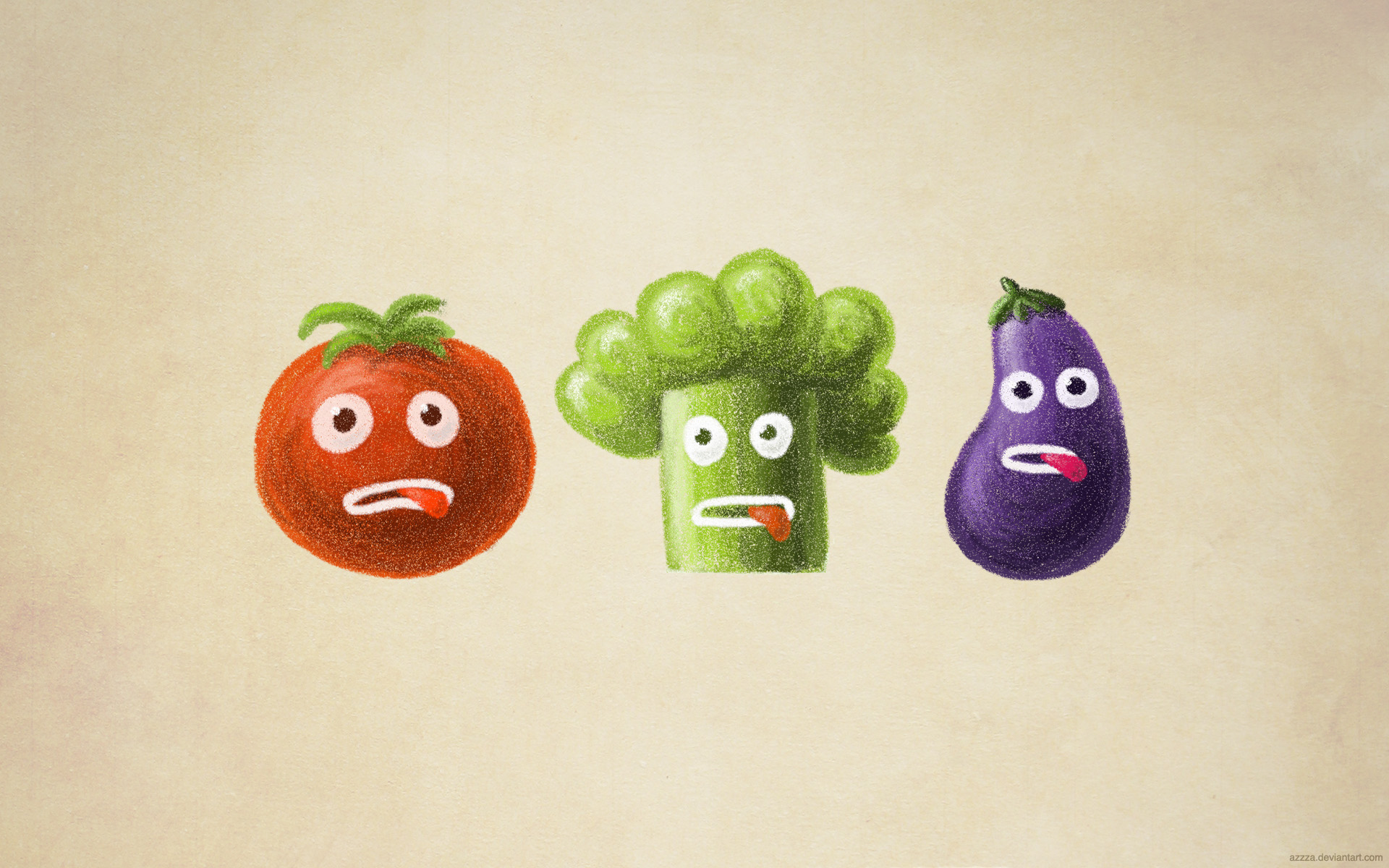 Stressed vegetables