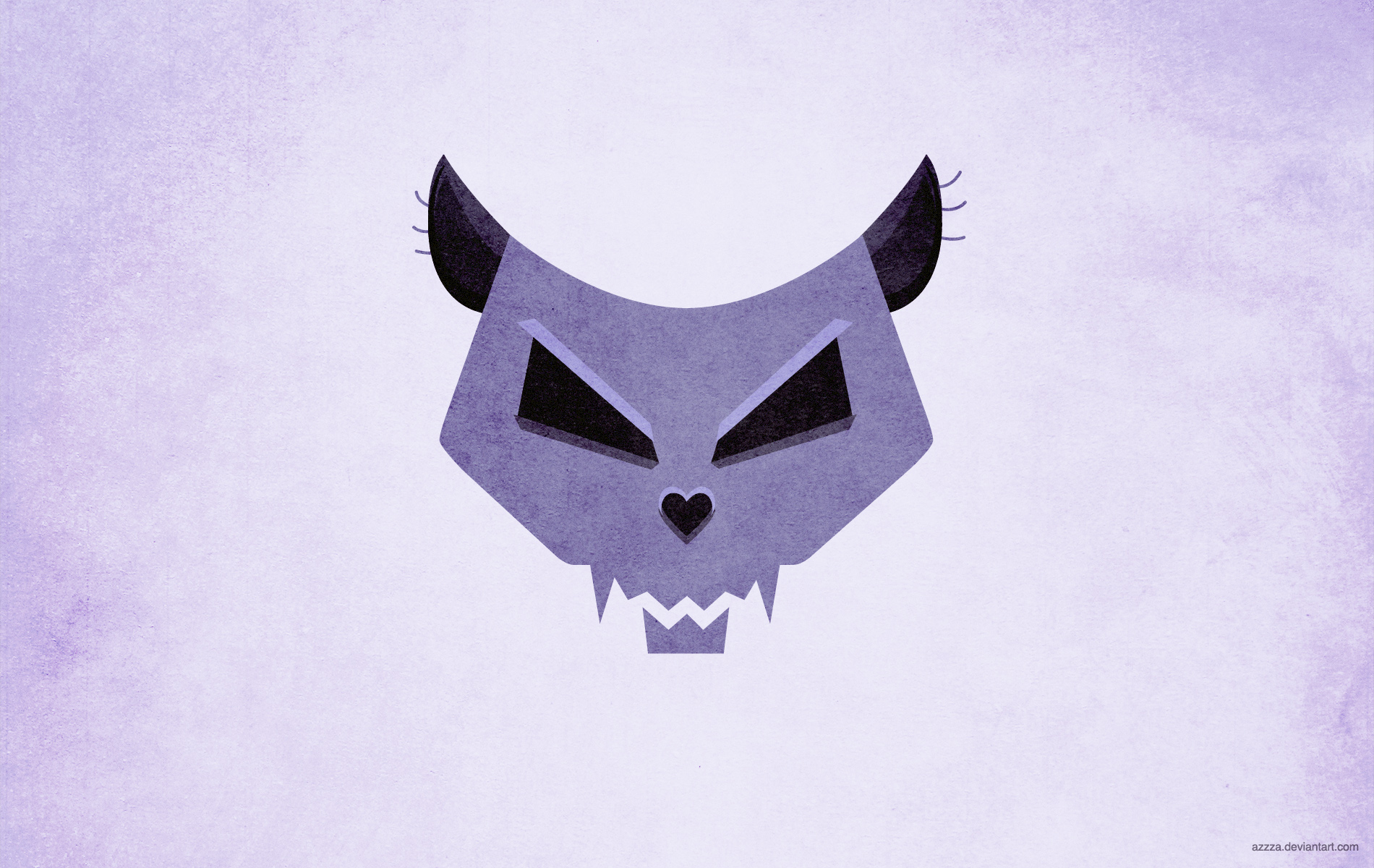 Cat skull wallpaper v.2 by azzza