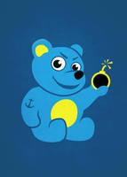 Evil Tattooed Cartoon Teddy Bear by azzza
