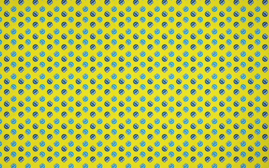 blue and yellow funny bugs pattern wallpaper by azzza on