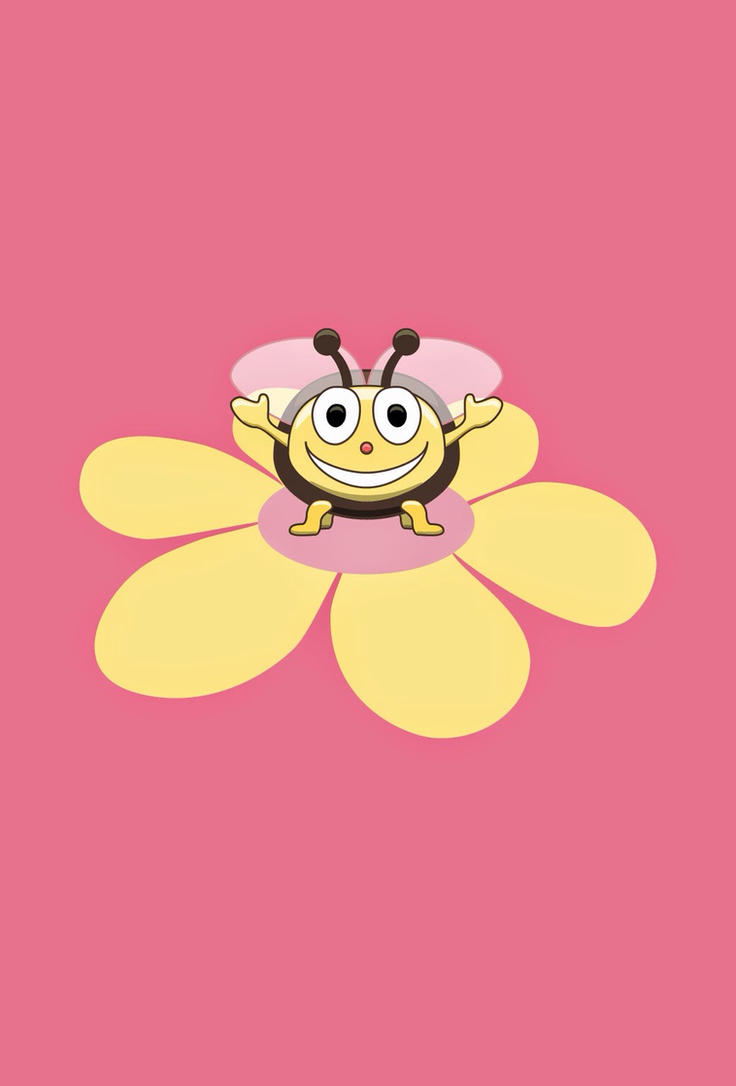 Most Inspiring Wallpaper Cartoon Smile - happy_cartoon_bee_on_flower_iphone_wallpaper__by_azzza-d8nea2k  Collection_934267   .jpg