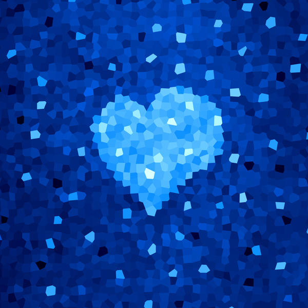 Winter Blue Crystal Heart by azzza